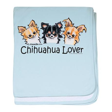 Longhair Chihuahua Lover baby blanket