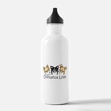Longhair Chihuahua Lover Water Bottle