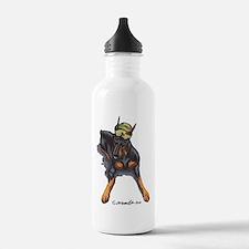 Doberman Pinscher Lover Water Bottle