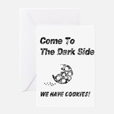 Vintage Come to the Dark Side Greeting Card