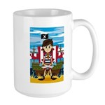 Little Pirate and Ship Large Coffee Mug