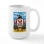 Little Pirate and Ship Large Coffee Mug