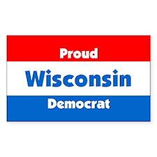 Proud Wisconsin Democrat Rectangle Decal