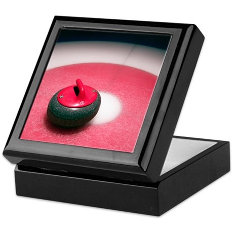 Curling Stone Keepsake Box