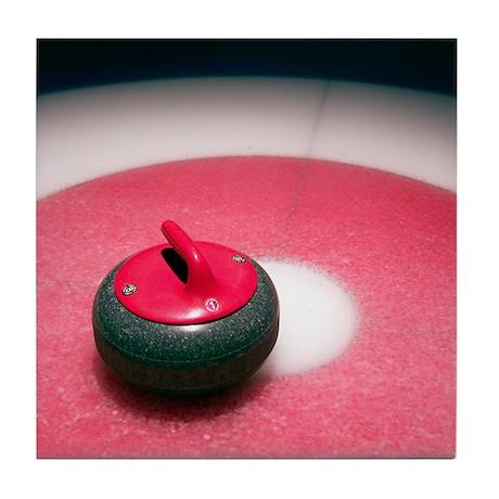 Curling Stone Tile Coaster