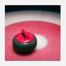 Curling Stone Tile Coaster