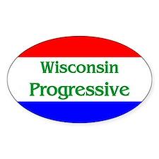 Wisconsin Progressive Oval Decal