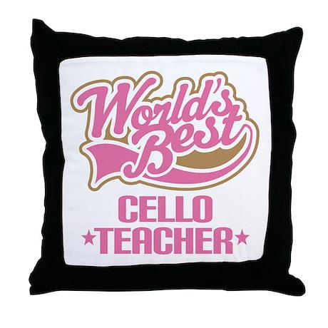 Cello Teacher Throw Pillow