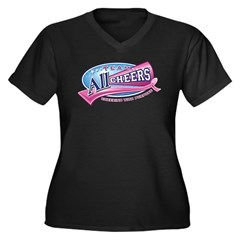 Team All Cheers! Women's Plus Size V-Neck Dark T-S