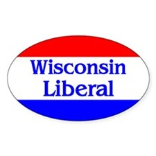 Wisconsin Liberal Oval Decal