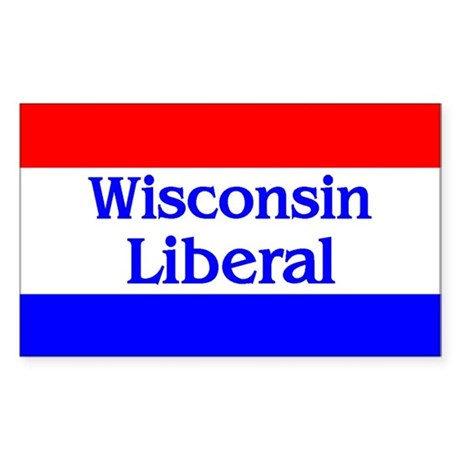 Wisconsin Liberal Rectangle Sticker