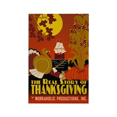 Real Story of Thanksgiving Rectangle Magnet (100)