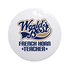 French Horn Teacher Ornament (Round)