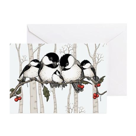 Chickadee Family Greeting Cards (Pk of 10)