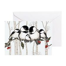 Chickadee Family Greeting Cards (Pk of 20)