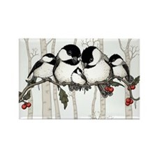 Chickadee Family Rectangle Magnet