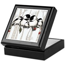 Chickadee Family Keepsake Box