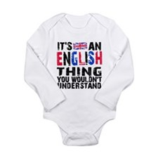 English Thing Long Sleeve Infant Bodysuit