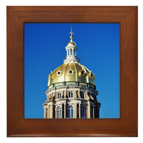 Iowa Capitol Dome Framed Tile