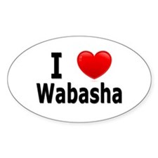 I Love Wabasha Decal