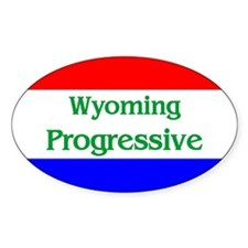 Wyoming Progressive Oval Decal