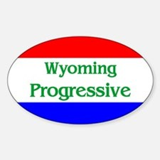Wyoming Progressive Oval Decal