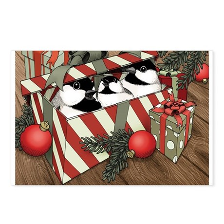 A Chickadee Christmas 2 Postcards (Package of 8)