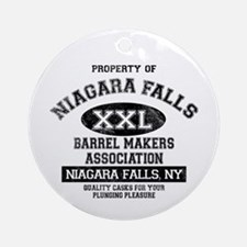 Niagara Falls Barrel Makers Ornament (Round)
