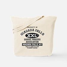 Niagara Falls Barrel Makers Tote Bag