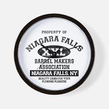 Niagara Falls Barrel Makers Wall Clock