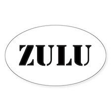 Zulu Sticker (Oval)