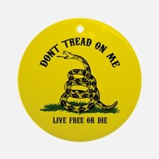 Don't Tread On Me Ornament (Round)