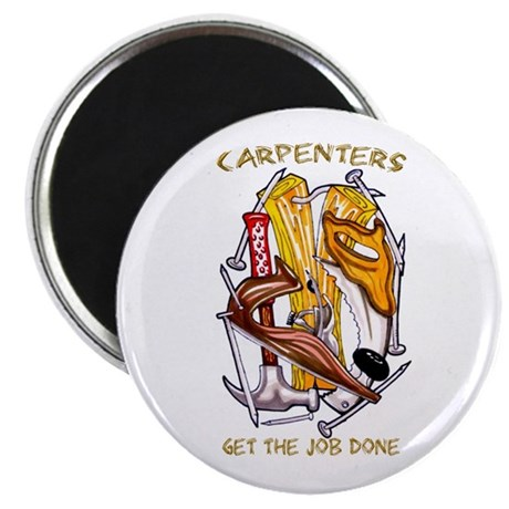 """Carpenters Get the Job Done 2.25"""" Magnet (10 pack)"""