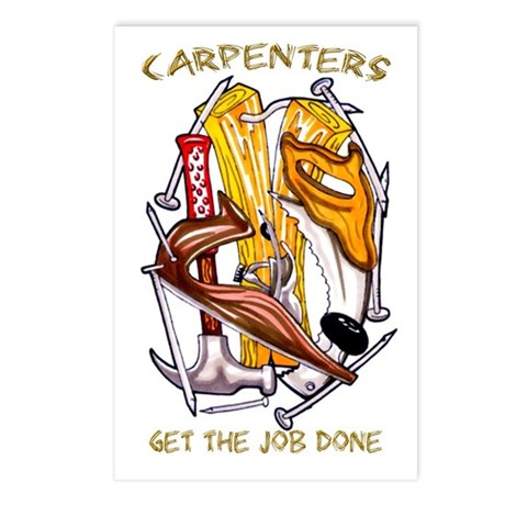 Carpenters Get the Job Done Postcards (Package of