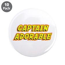 """Captain Adorable 3.5"""" Button (10 pack)"""
