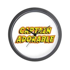 Captain Adorable Wall Clock