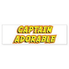 Captain Adorable Bumper Sticker