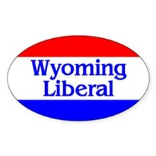 Wyoming Liberal Oval Decal