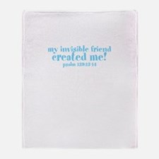 Funny Fearfully and wonderfully made Throw Blanket
