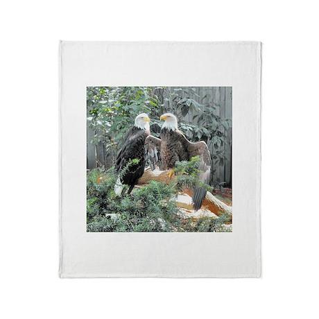 Bald Eagles in the Sun Throw Blanket