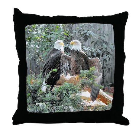 Bald Eagles in the Sun Throw Pillow