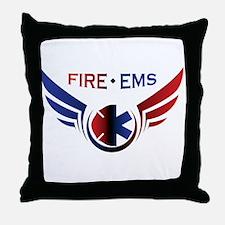 Flying Fire & EMS Throw Pillow
