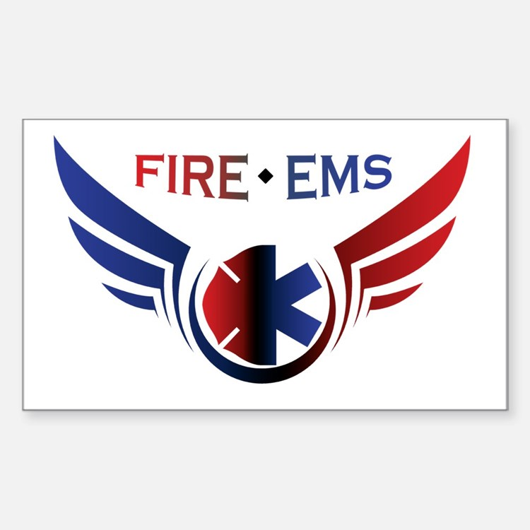 Flying Fire & EMS Decal