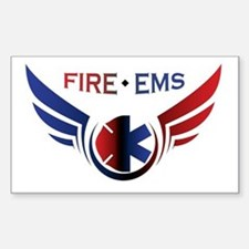 Flying Fire & EMS Sticker (Rectangle)