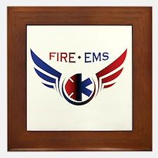 Flying Fire & EMS Framed Tile