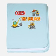 Owen the Builder baby blanket
