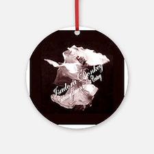 Isadora Donkey Fan Club Ornament (Round)