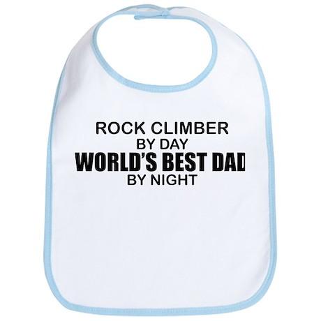 World's Greatest Dad - Rock Climber Bib