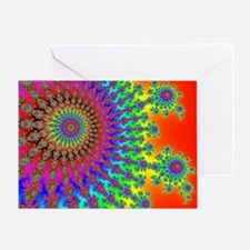 Rainbow Fireworks Greeting Card