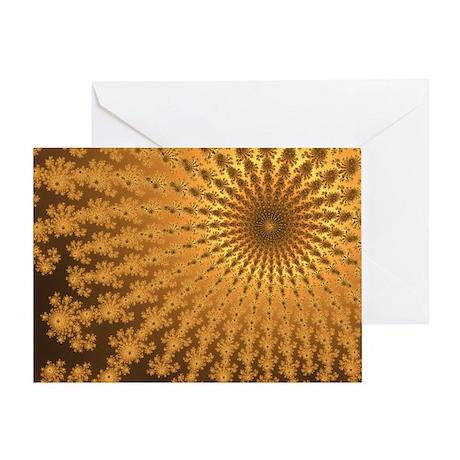 Golden Fireworks Greeting Card